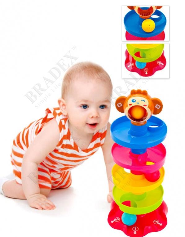 Игрушка детская с шариками «пирамидка» (special rolling ball 40*18)