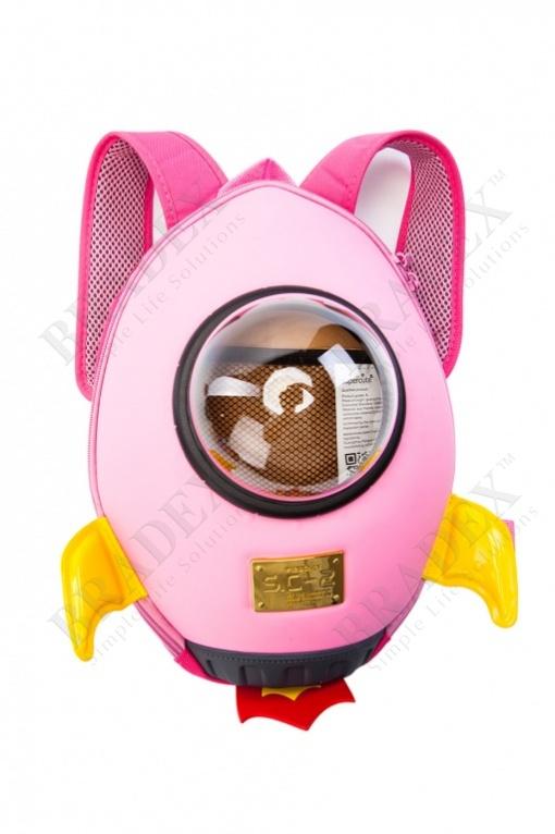Ранец «ракета» розовый (rocket backpack pink)