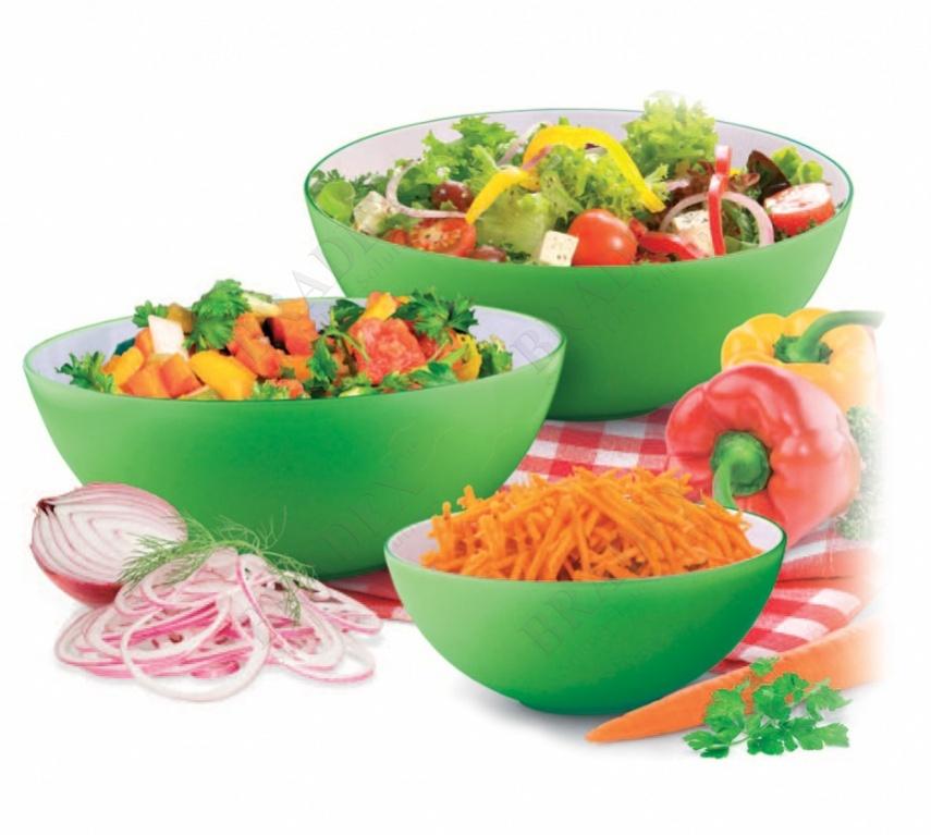 Салатник 25 см круглый зеленый (salad bowl small)