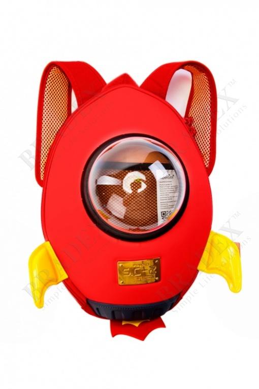 Ранец «ракета» красный (rocket backpack red)