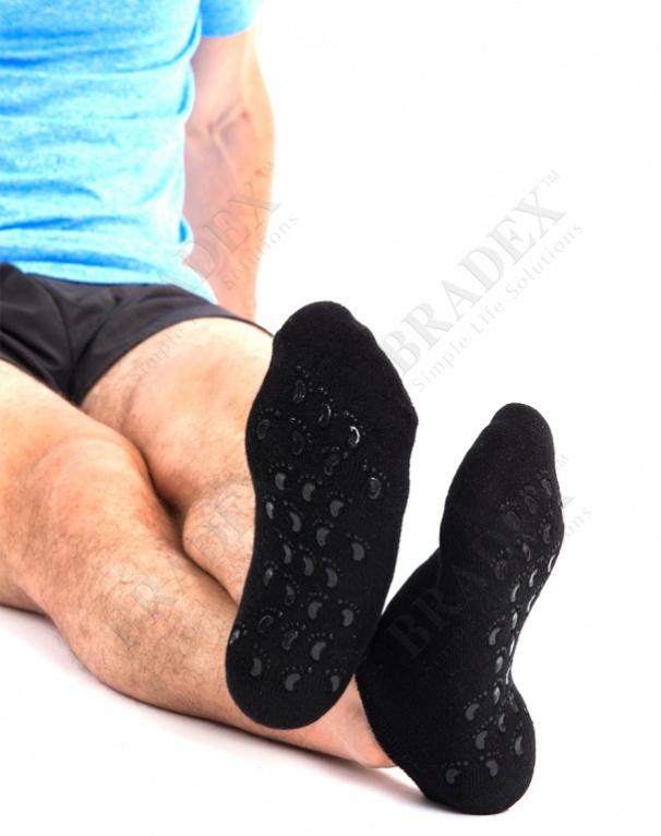Носки с силиконовой подкладкой мужские 25см (spa belle (black for men))