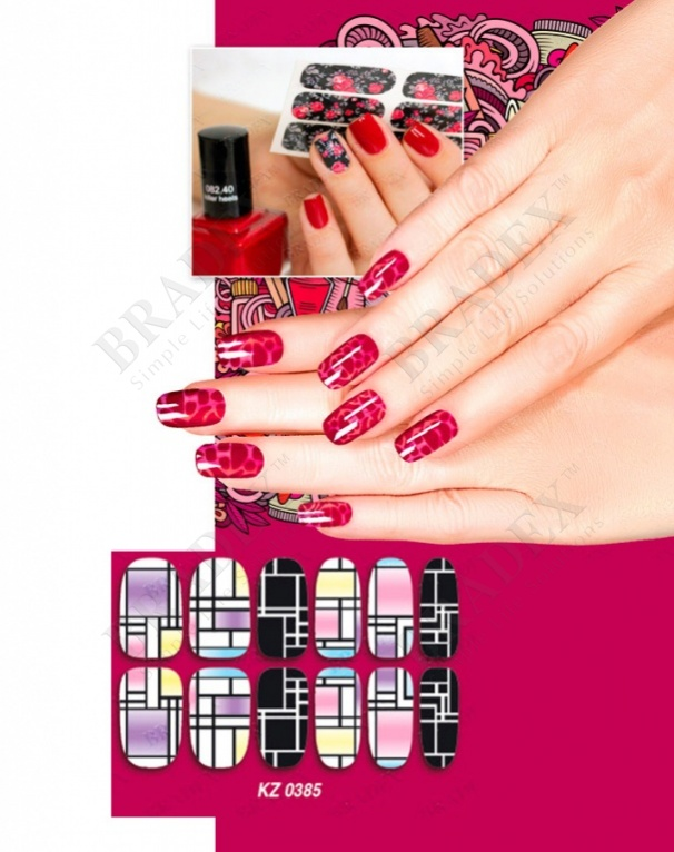 Арт-пленка для дизайна ногтей «авангард» (nail polish wraps mrt1523)