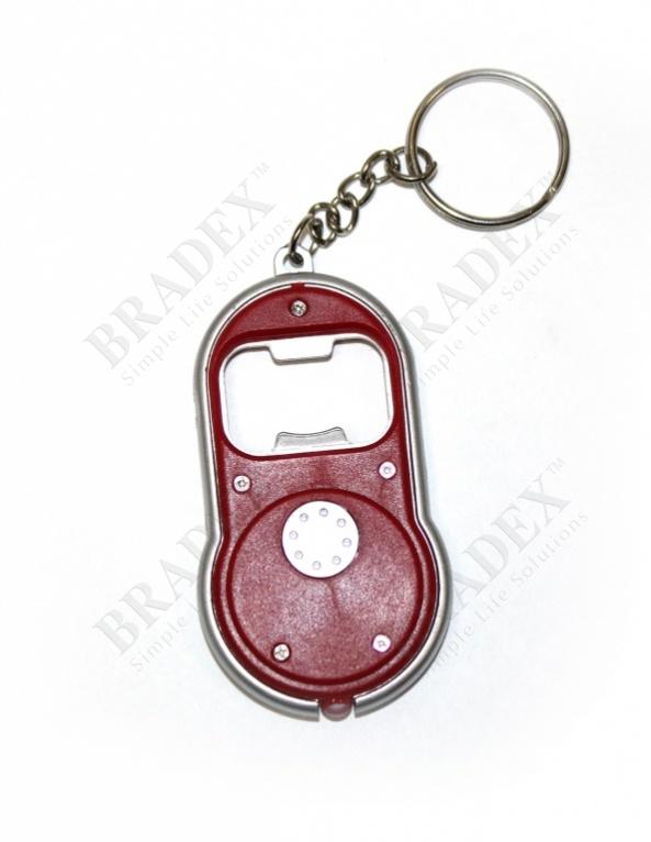 Брелок - открывалка для бутылок с фонариком (keychain - bottle opener with flash light)