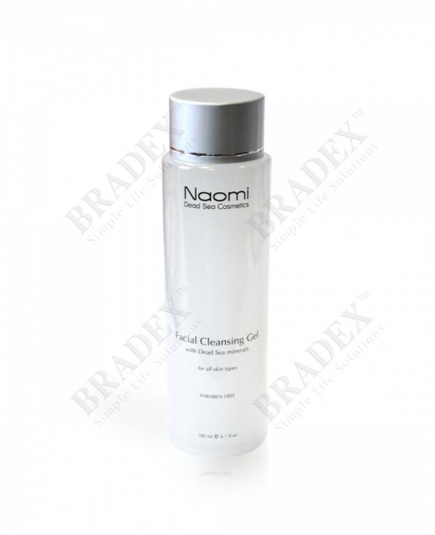 Очищающий гель для лица «naomi» для всех типов кожи, 180 мл. (naomi facial cleansing gel)