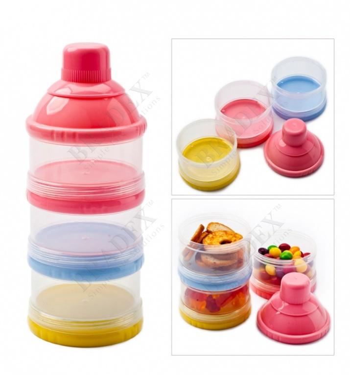Трехслойный контейнер для пищевых сыпучих продуктов (baby feeding plastic pp food storage container milk powder case milk powder dispenser)