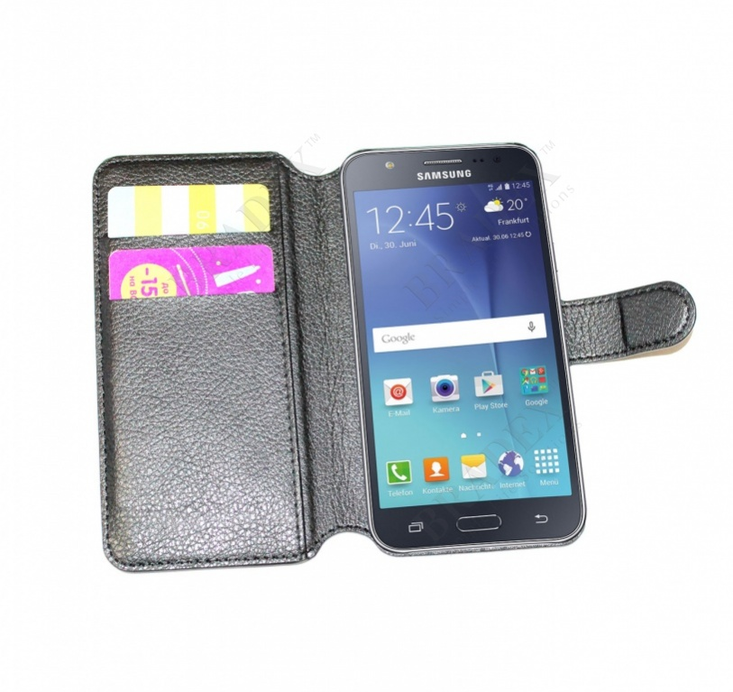 Чехол-книжка универсальный для телефона, черный 14*6,7 см (flip-open cover phone case, black, 14*6,7 cm)