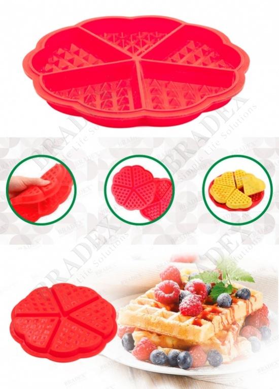 Форма силиконовая «сладкие сердца» (waffles cake mold hearts)