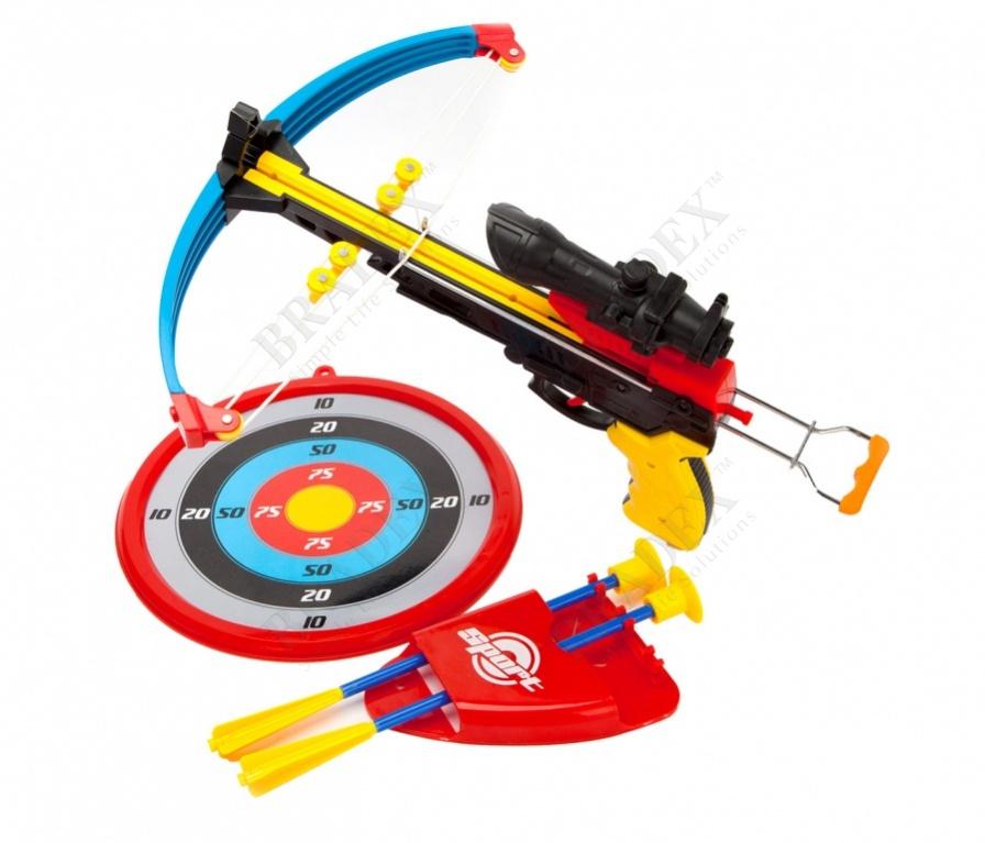 Арбалет детский со стрелами «точный выстрел» (outside plastic arrow sport toy with en71)