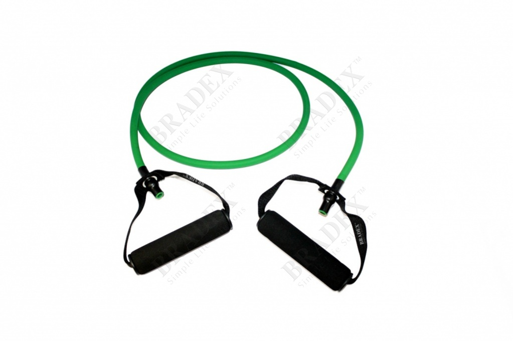 Эспандер трубчатый с ручками, нагрузка до 11 кг, зеленый (expander, 25 lb)