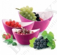 Салатник 25 см овальный фиолетовый (salad bowl small)