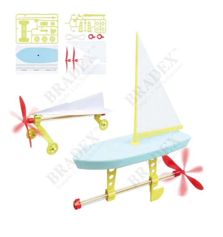 Набор для сборки моделей с пропеллером «юный инженер» (propeller engines)