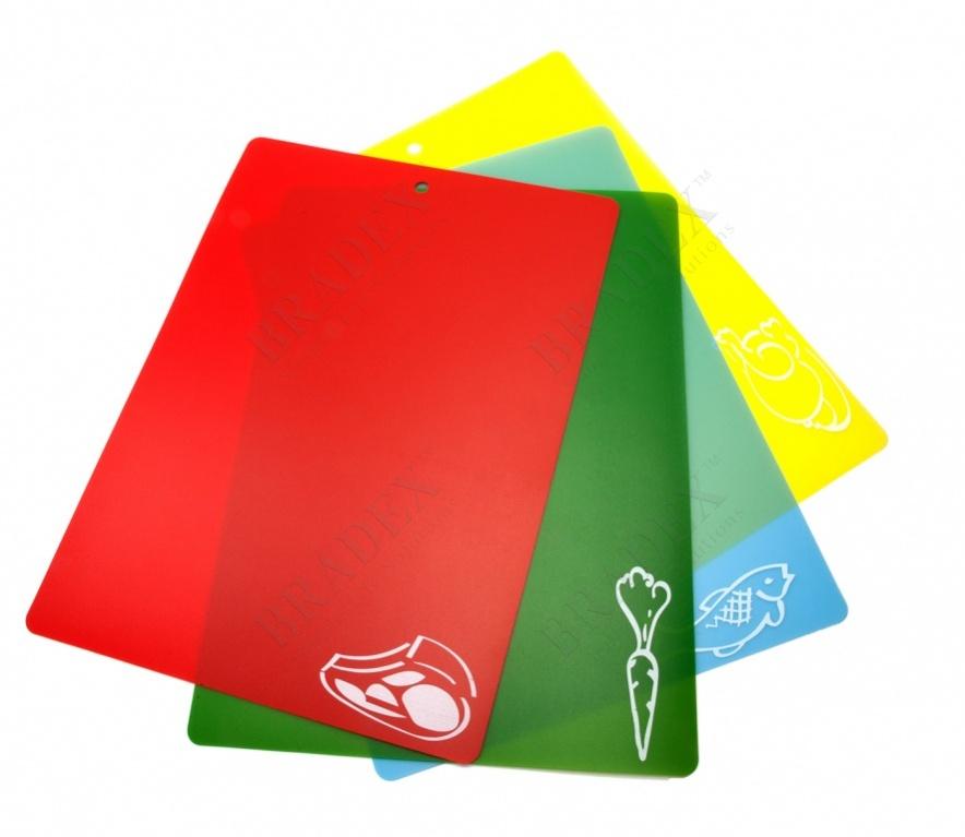 Набор гибких разделочных досок (4 шт.) (chopping mat set 28*38 см. - 4 pcs.)