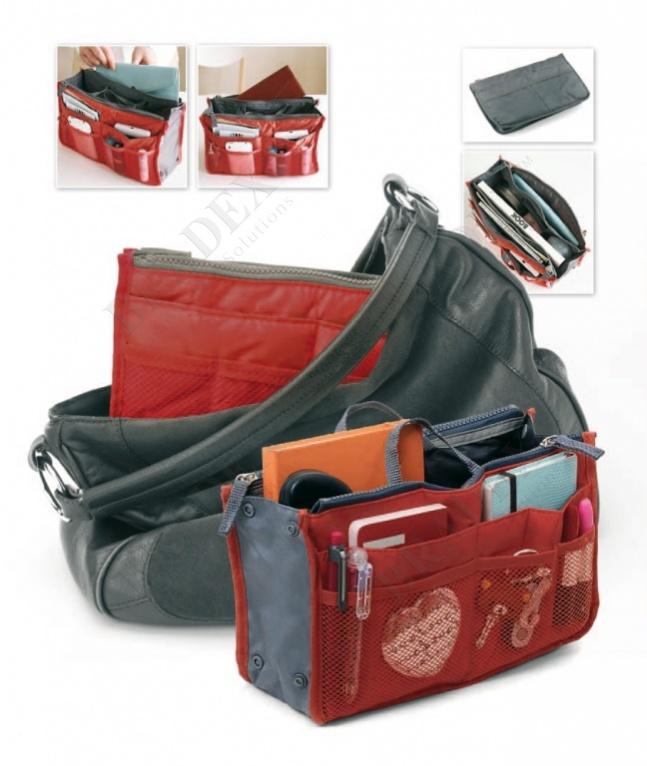 Органайзер для сумки «сумка в сумке» цвет красный (organizer for a bag 'dual bag in bag' (red))