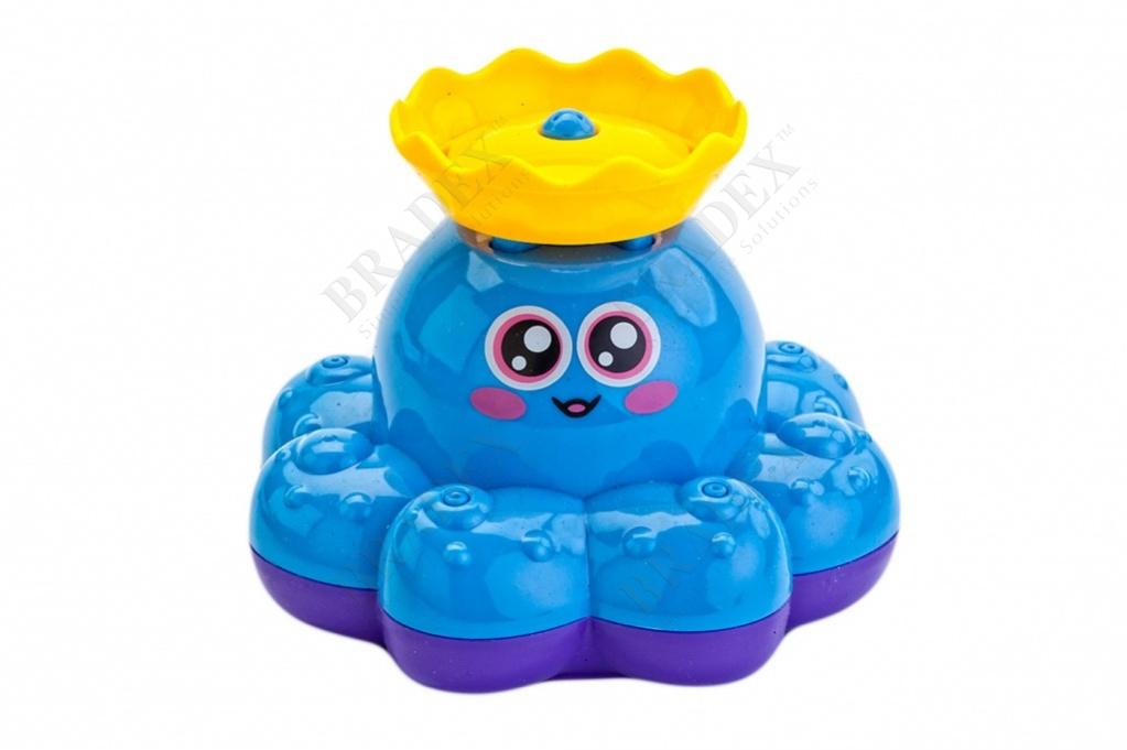 Игрушка детская для ванны «фонтан-осьминожка» голубой (electric water spray small octopus)