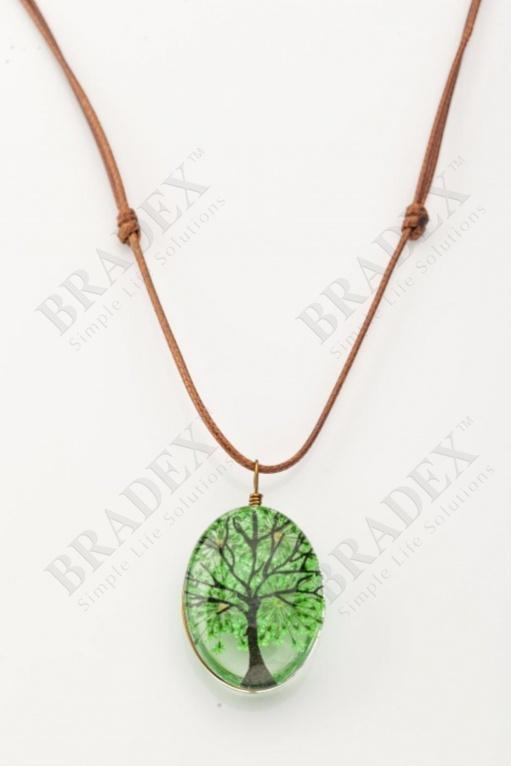 Кулон «дерево сакуры» зеленый wf-1204-01 купить оптом