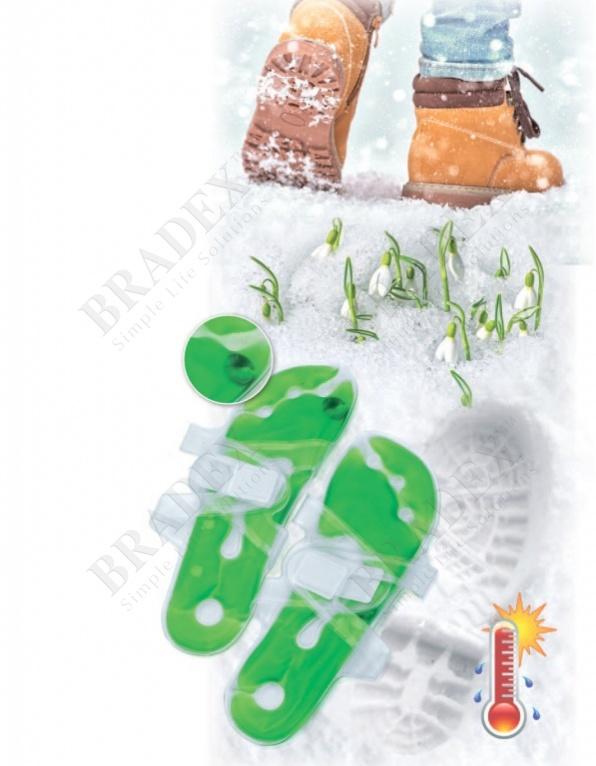 Грелка солевая саморазогревающаяся - стелька - 2шт (feet hot pack)