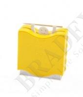 Держатель для зубочисток автоматический, желтый «штангист»