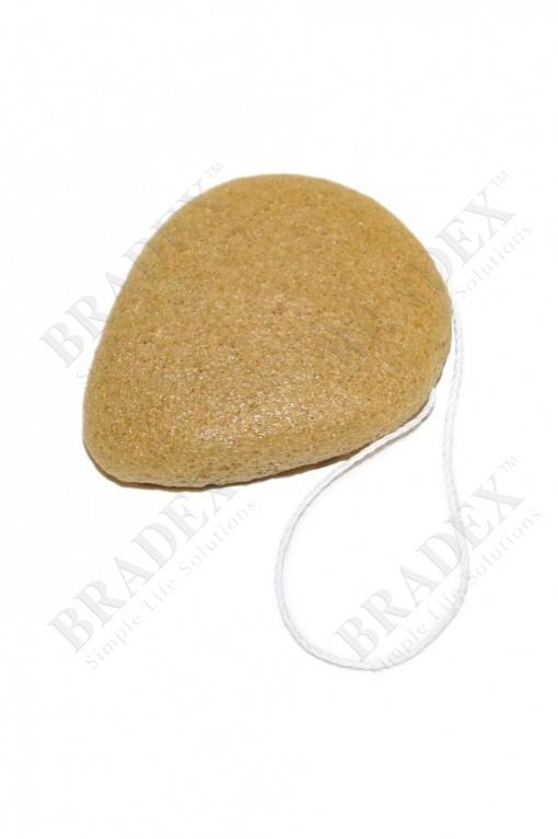 Губка-спонж «конняку» с экстрактом куркумы (konjac face sponge with turmeric extracts)