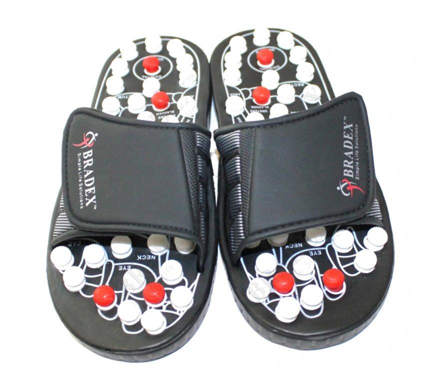 Тапочки рефлекторные «сила йоги про», размер 38-39 (spring acupuncture massage slippers, size 38-39)
