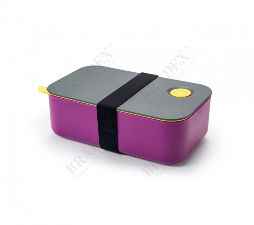 Ланч-бокс с одним отделением и разделителем, 1 л. (single layer fashion bento box, purple)