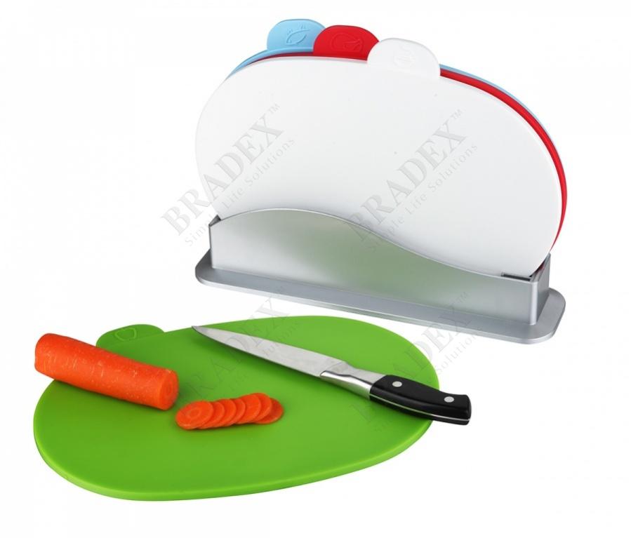 Набор разделочных досок с подставкой «карнавал» (4pcs chopping board set)