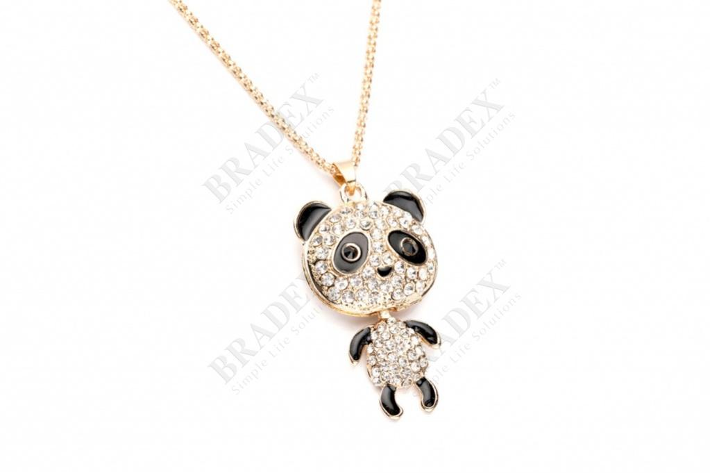 Колье «танцующий мишка» цвет золотой pendant with chain 70 cm купить оптом