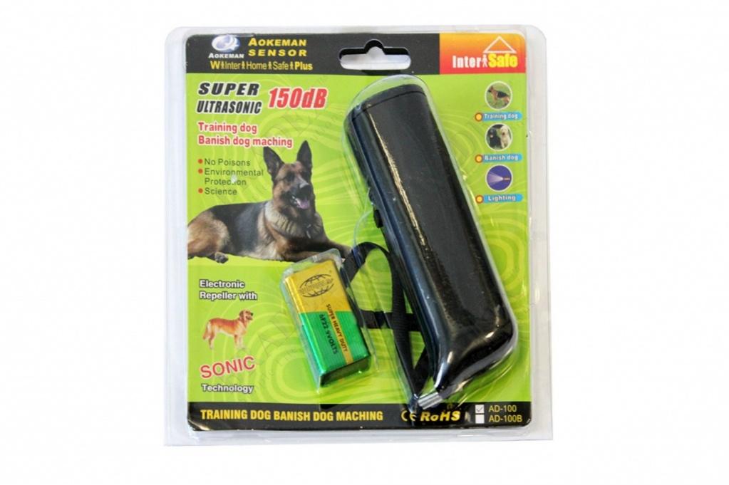 Отпугиватель собак ультразвуковой цвет черный dog repeller