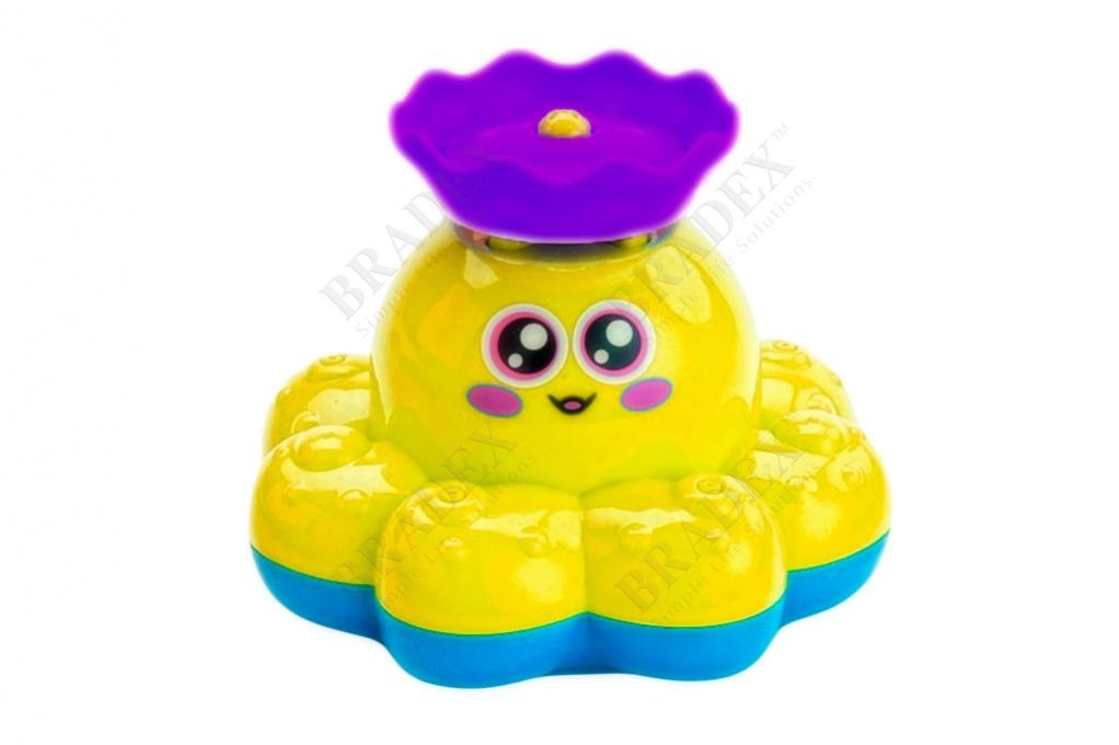 Игрушка детская для ванны «фонтан-осьминожка» желтый (electric water spray small octopus)