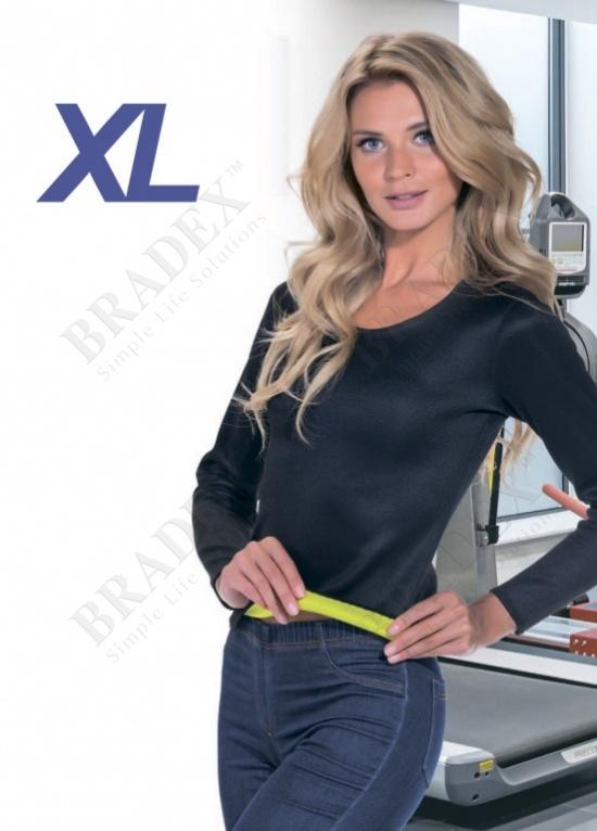 Футболка с длинным рукавом для похудения «хот шейперс», размер xl (t-shirt with long sleeves, xxl)