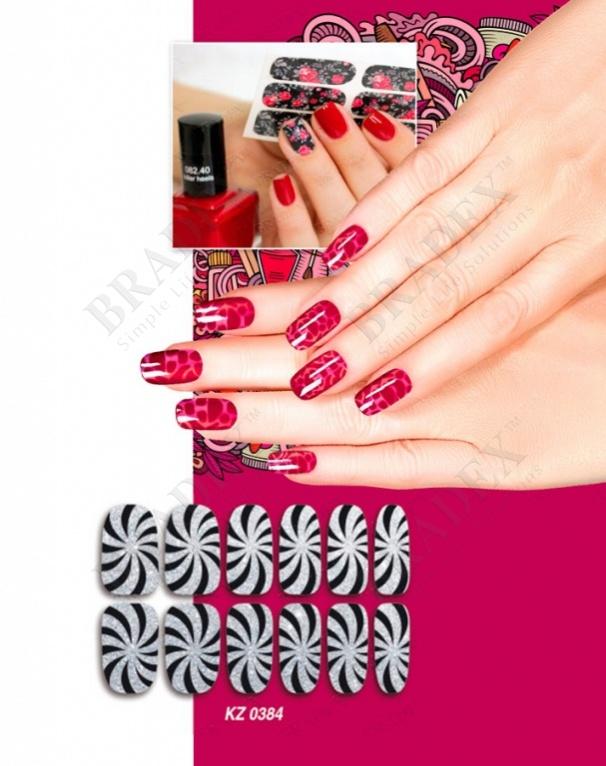 Арт-пленка для дизайна ногтей «гипноз» (nail polish wraps zxfs2618)