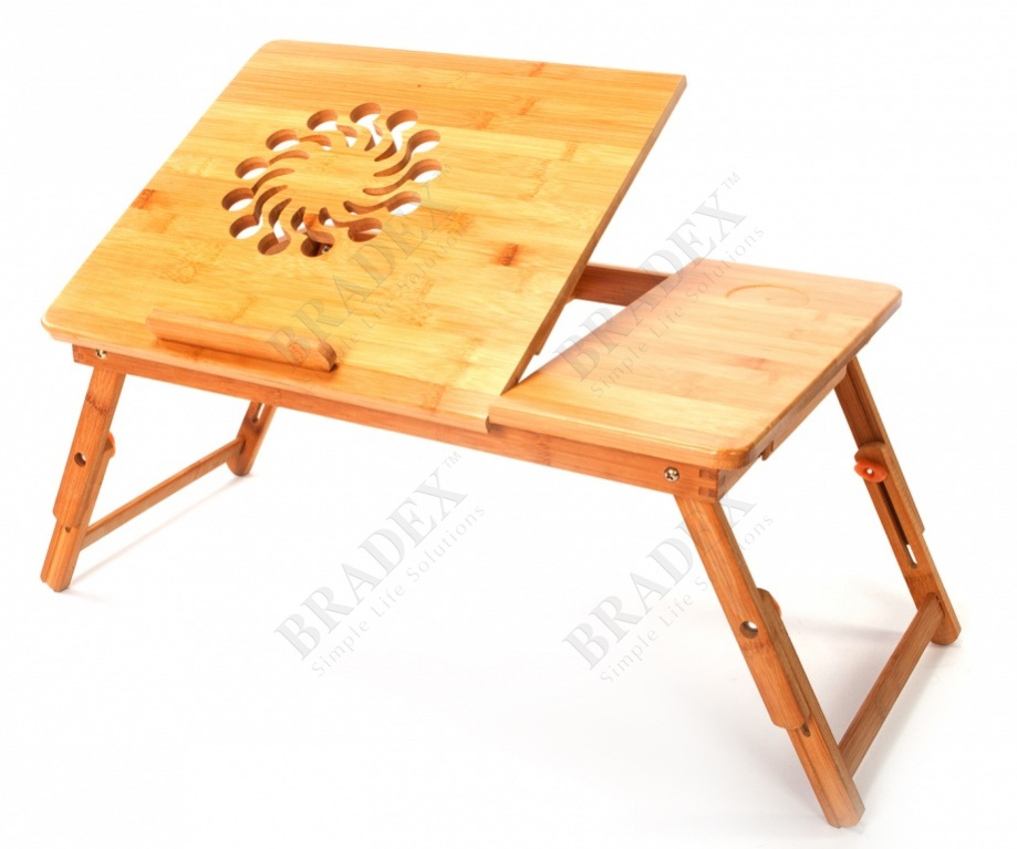 Столик-трансформер для ноутбука, планшета и завтрака в постели (wooden table for breakfast in bed and laptop)