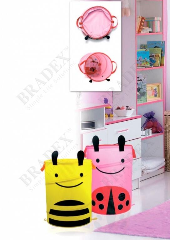 Корзина для хранения складная «пчелка» (bee animal kids toy storage bucket.material: 420d oxford +steel wire,)