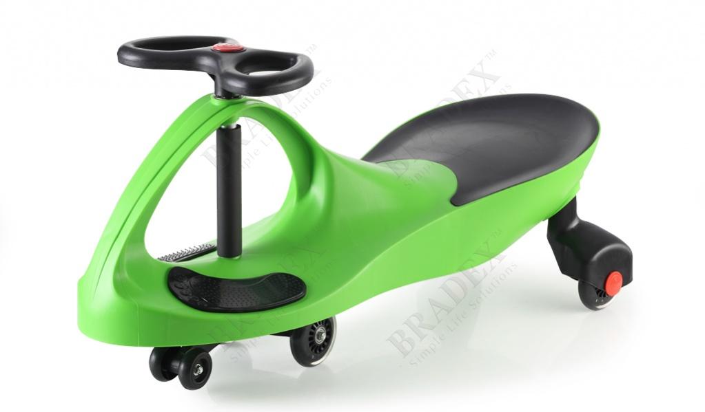 Машинка детская с полиуретановыми колесами зеленая «бибикар» (bibicar, green colour, pu wheels)