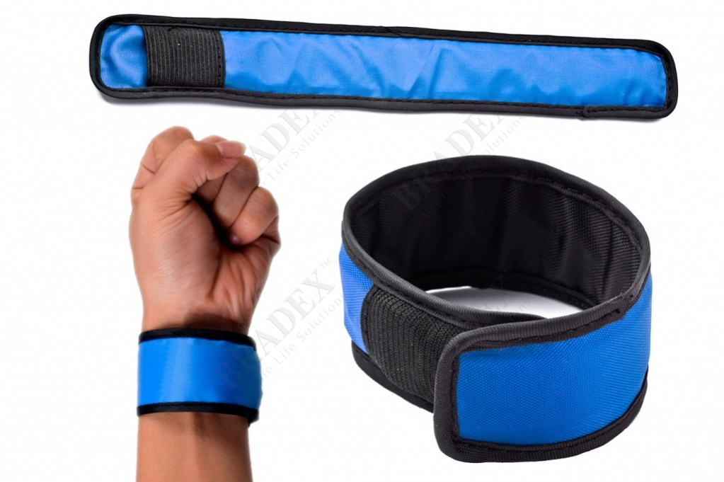 Слэп-лента со светодиодной подсветкой синяя (slap wrap led bracelet. blue color)