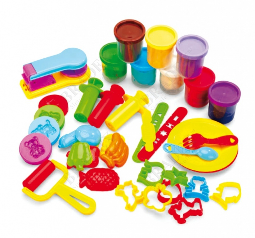 Набор пластилина с формочками «креативный пластилин» (creative plasticine set)