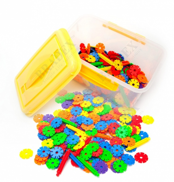 Конструктор детский «звёздочки» (1000 pcs snowflake blocks with en71)
