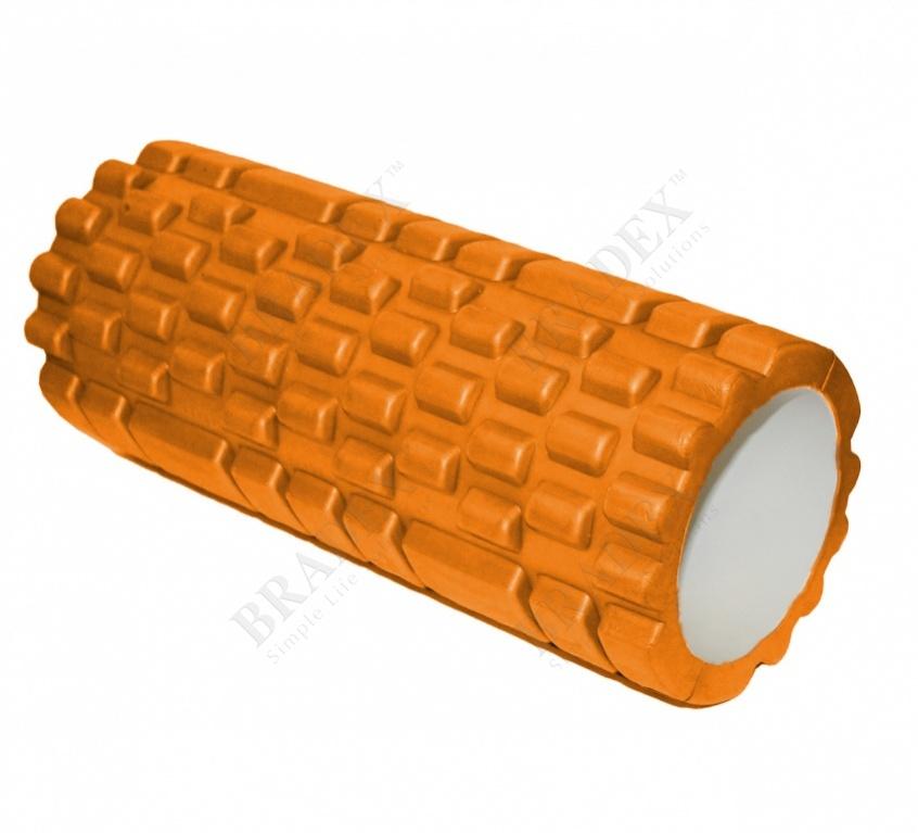 Валик для фитнеса «туба» оранжевый (deep tissue massage foam roller)