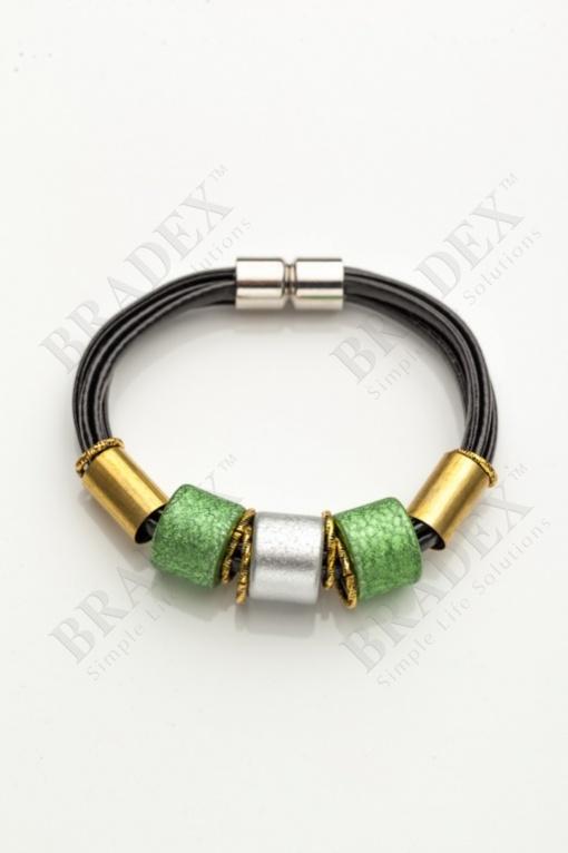 Браслет «этника» зеленый wooden bracelet - green купить оптом