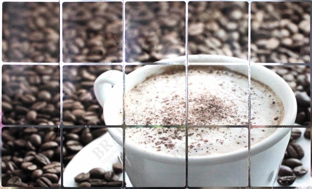 Экран защитный кухонный «кофе» (kitchen wall cover y1056)
