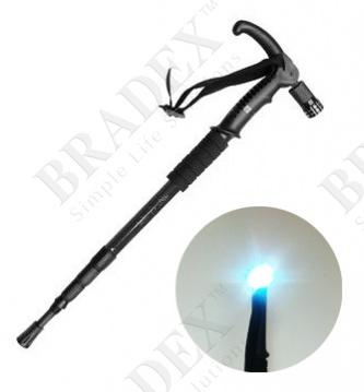 Трость телескопическая с подсветкой «опора» (walking stick)