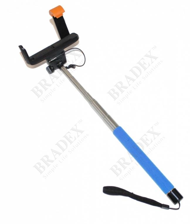 Штатив для создания снимков сэлфи голубой (camera stick - selfie stick – blue)