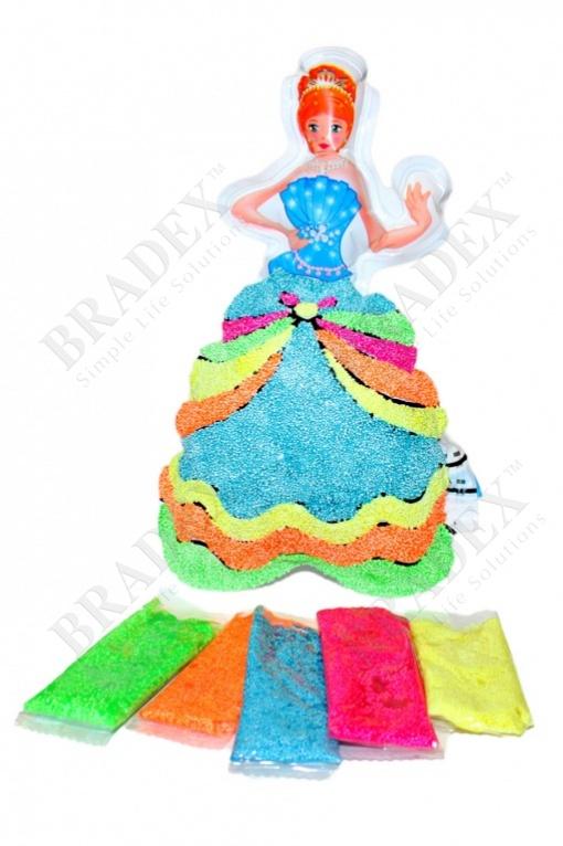 Раскраска надувная «принцесса лея» (inflatable painting baloon princess/diy)