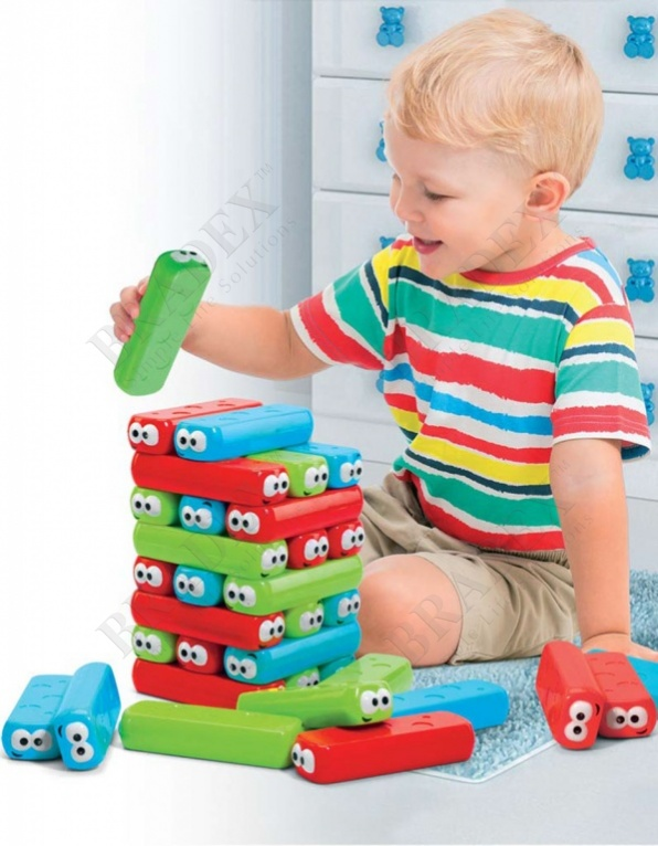 Настольная игра «падающая башня» (colorful jenga toy for kids)