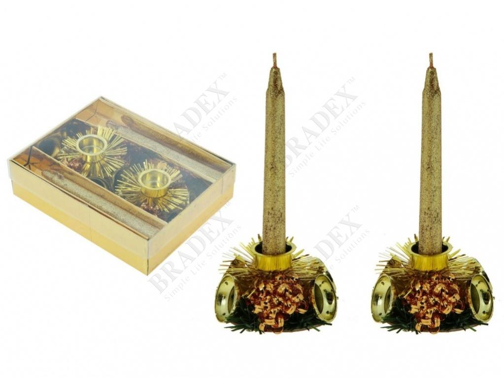 Набор свечей с подсвечником «колокольчики» (candlesticks and candles)