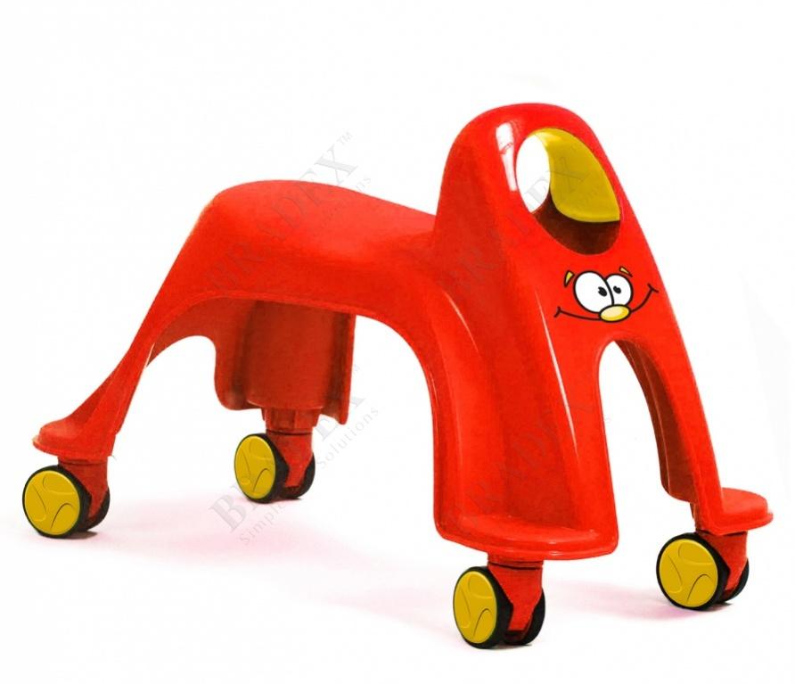 Каталка детская «вихрь» красный (neon whirlee)