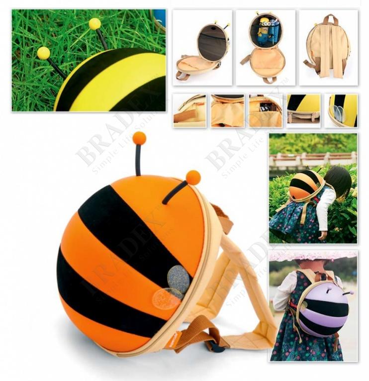 Ранец детский «пчелка» оранжевый (bumble bee backpack orange)