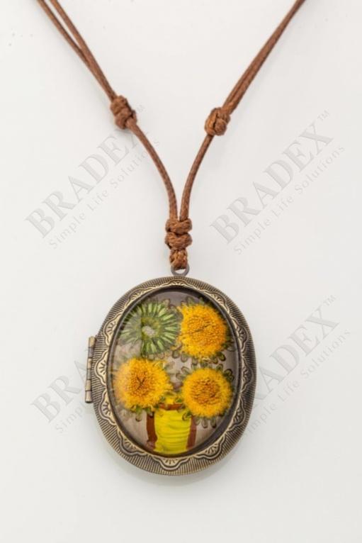 Кулон «медальон» желтый wf-1210 купить оптом