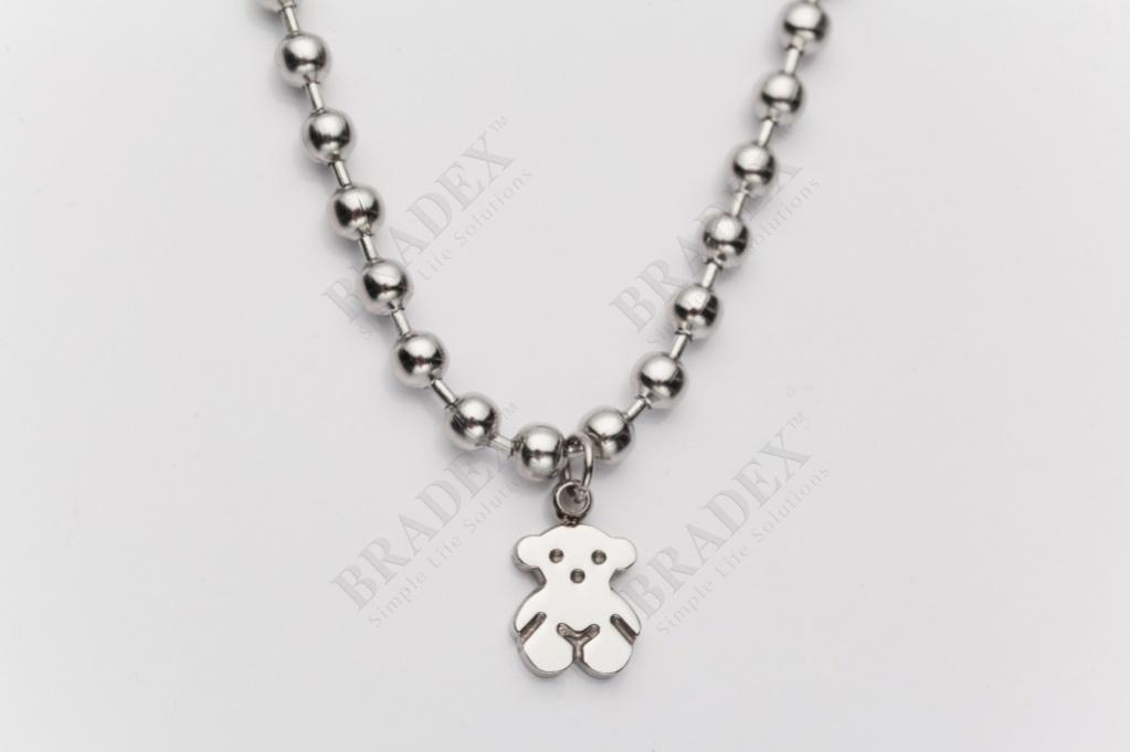 Браслет «мишутка» цвет серебряный bracelet kb60721-z купить оптом