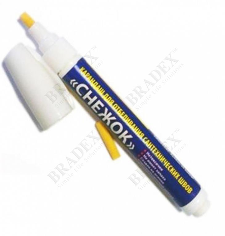 Карандаш для отбеливания сантехнических швов «снежок» (grout marker)