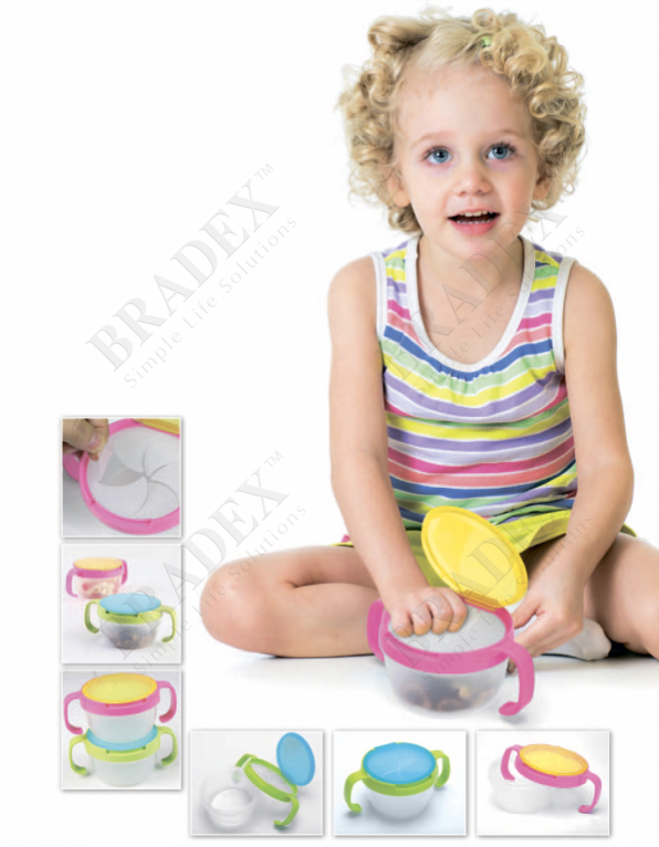 Контейнер для малышей «поймай печенье» розовый (click lock case)